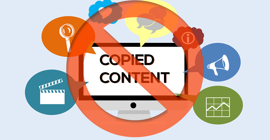Never Use Copied Contents in your site